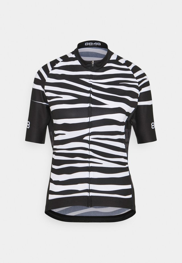 ELLA BIKE JUNGLE - T-shirt print - zebra black