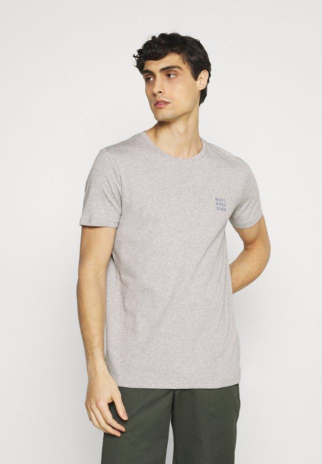 LOGO PRINT - T-shirt print - silvered melange