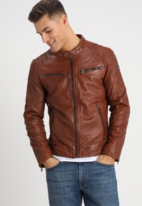 Gipsy - CAMREN LASYV - Leather jacket - cognac - 0