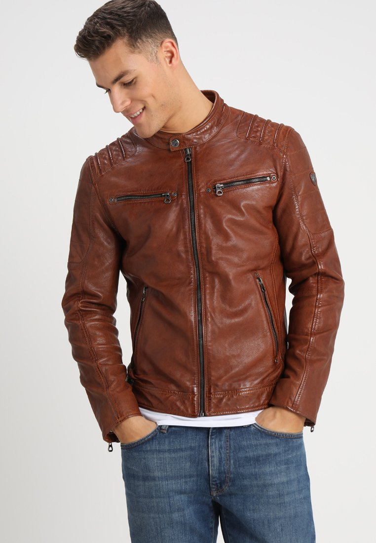 Gipsy - CAMREN LASYV - Leather jacket - cognac