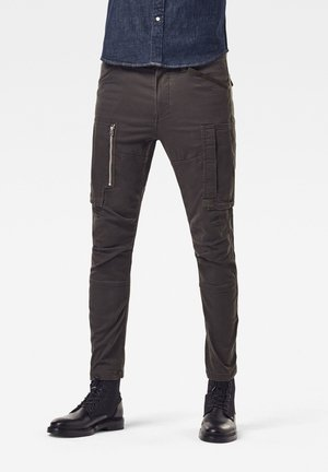 FLIGHT CARGO 3D SKINNY - Cargo trousers - asfalt