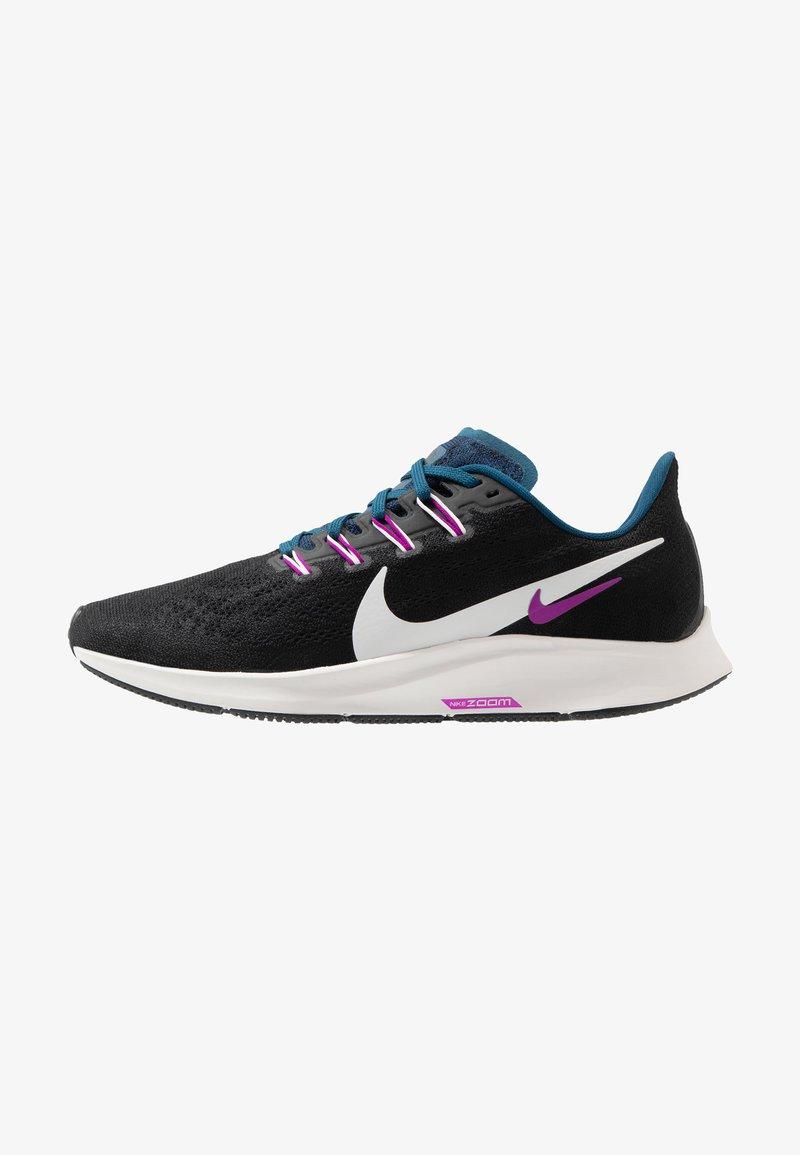 Nike Performance - AIR ZOOM PEGASUS 36 - Stabilty running shoes - black/summit white/valerian blue/vivid purple