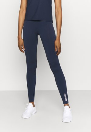 SEAMLESS LEGGINGS - Punčochy - blau