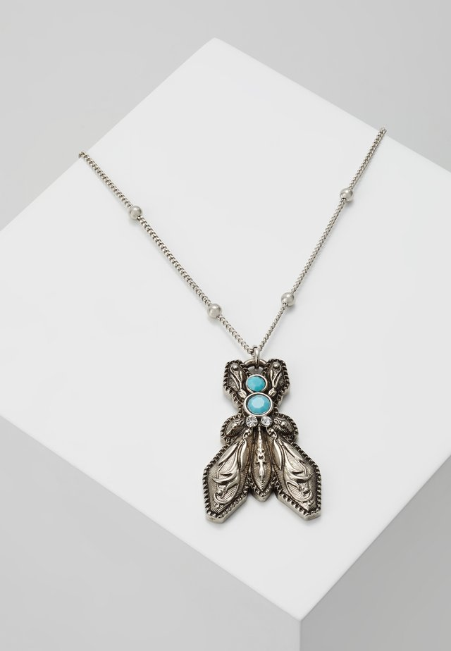 COLLANA CON PIETRE - Collar - turquoise/silver-coloured