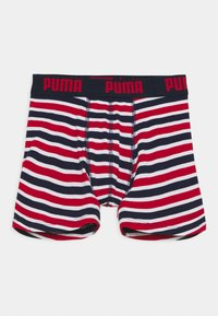 Puma - BOYS BASIC BOXER PRINTED STRIPE 2 PACK - Culotte - ribbon red - 2