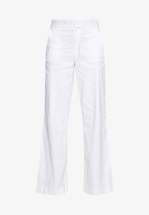 WIDE LEG FULL LENGTH CLEAN SOLIDS - Kalhoty - white