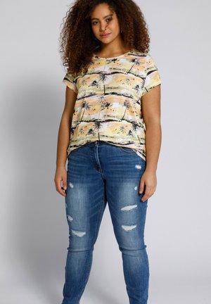 Print T-shirt - perzik