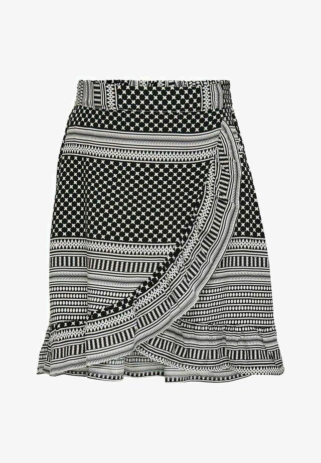 WICKELEFFEKT - A-snit nederdel/ A-formede nederdele - black