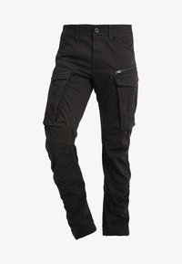 G-Star - ROVIC ZIP 3D STRAIGHT TAPERED - Pantalon cargo - raven - 4