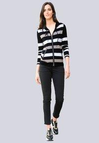 Alba Moda - Zip-up sweatshirt - schwarz,off-white,taupe - 1