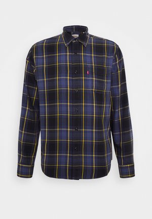 SUNSET POCKET STANDARD - Shirt - dark blue/blue/yellow