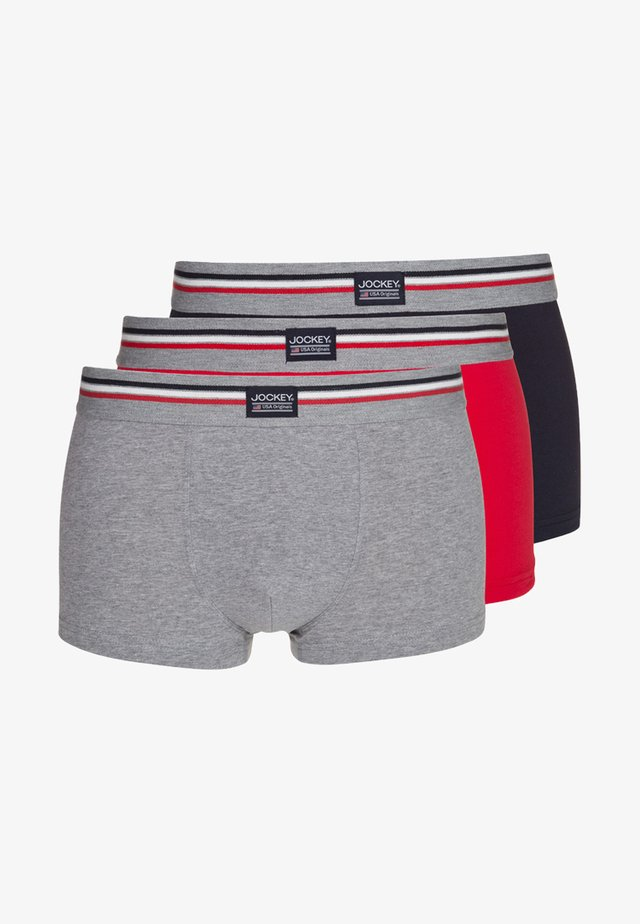 COTTON STRETCH TRUNK 3 PACK - Underbukse - stone grey melange