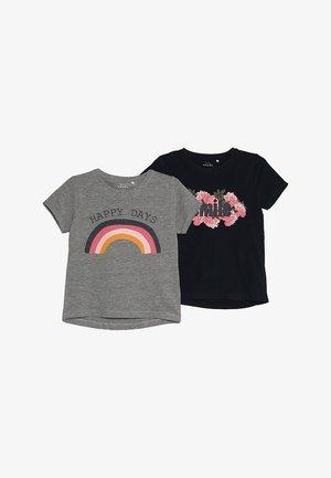 NKFVIXI BOX 2 PACK - Print T-shirt - dark sapphire/grey melange