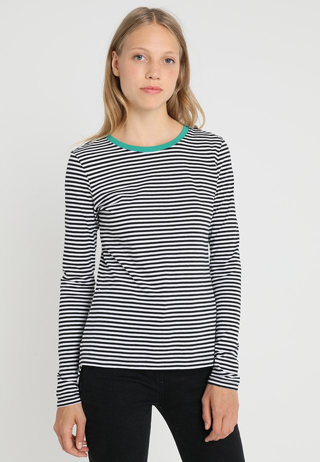 Bluzka z długim rękawem - white/black/green