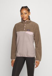Patagonia - SYNCH SNAP - Fleece jumper - furry taupe - 0