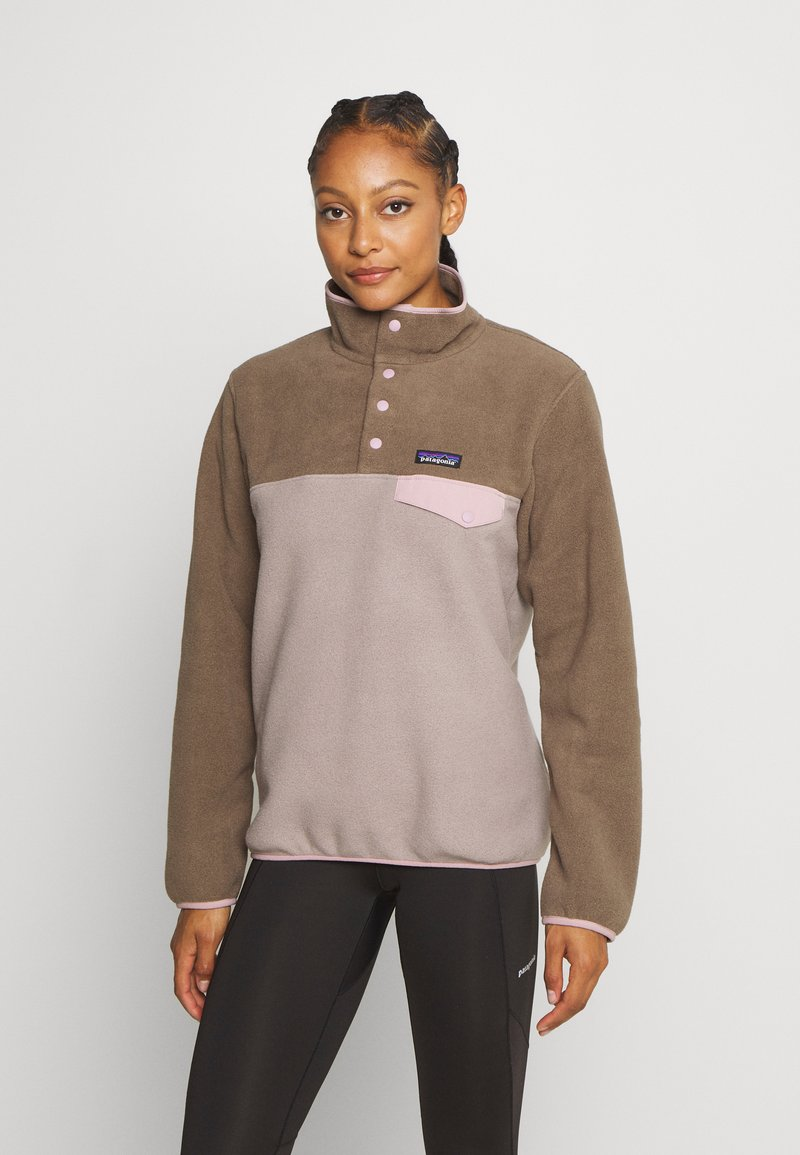Patagonia - SYNCH SNAP - Fleece jumper - furry taupe