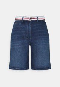 Tommy Hilfiger - SLIM BERMUDA - Denim shorts - tam - 0