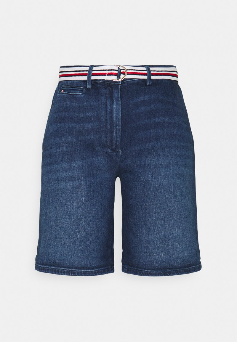 Tommy Hilfiger - SLIM BERMUDA - Denim shorts - tam