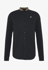 SIKSILK - LONG SLEEVE TAPE COLLAR - Camicia - black/gold - 3