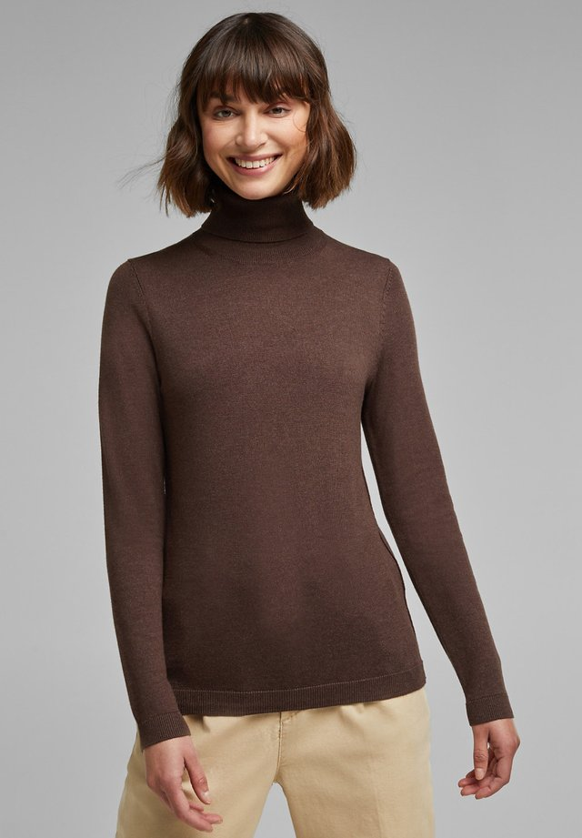 TURTLE - Jumper - dark brown