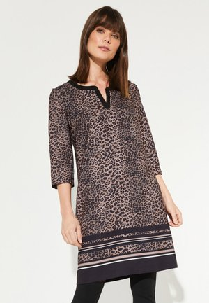 MIT LEOPARDEN-ALLOVERMUSTER - Day dress - black