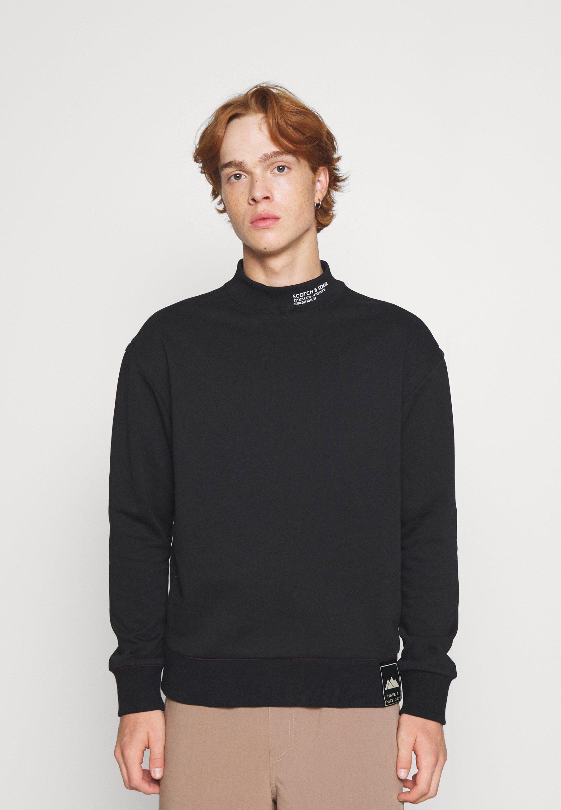 Homme CLEAN FELPA  WITH HIGH COLLAR - Sweatshirt