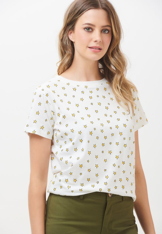 LITTLE STAR PRINT - Print T-shirt - off- white