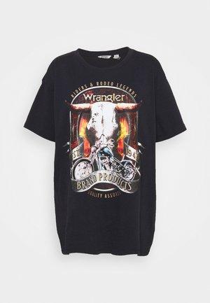 OVERSIZED TEE - T-shirts med print - washed black