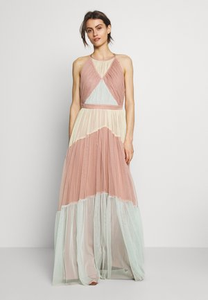 HALTER NECK MAXI DRESS - Abito da sera - geo multi