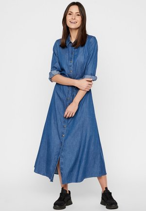 Shirt dress - medium blue denim
