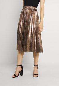 Molly Bracken - LADIES WOVEN SKIRT - A-line skirt - mat gold - 0