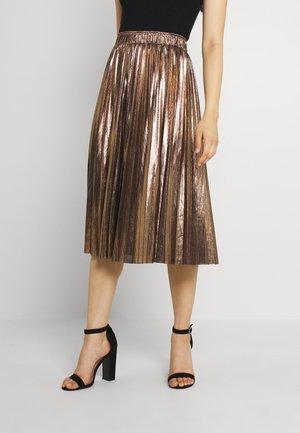 LADIES WOVEN SKIRT - A-line skirt - mat gold