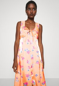 Who What Wear - TIE FRONT DRESS - Maxi dress - blossom orange - 5