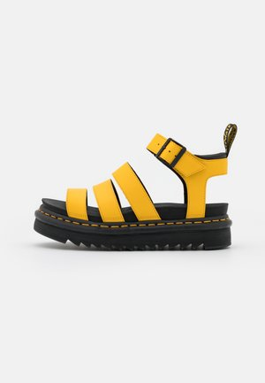 BLAIRE - Platform sandals - yellow hydro