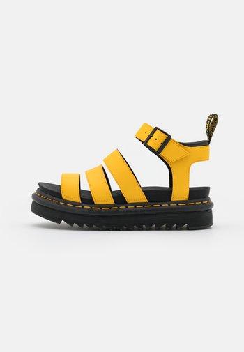 BLAIRE - Platform sandals - yellow hydro