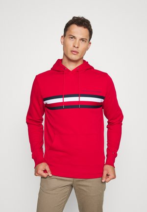 LOGO HOODY - Bluza z kapturem - red