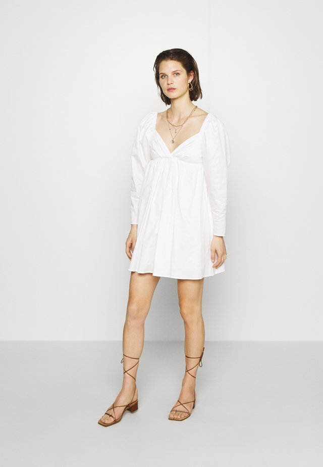 THE DRAMATIC SLEEVE MINI DRESS - Day dress - white
