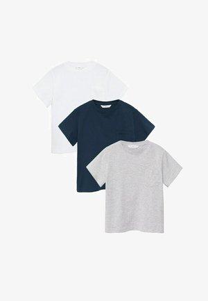 3-PACK BRADPK-I - T-shirt basic - gebroken wit