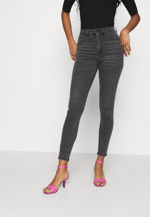 MOLLY HIGH WAIST - Jeans Skinny Fit - dark grey