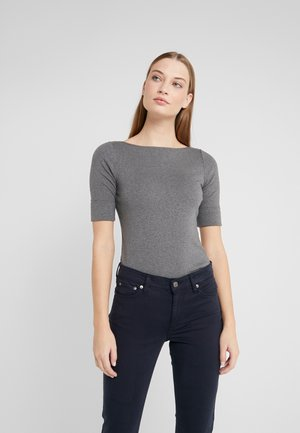 Print T-shirt - lexington grey heather