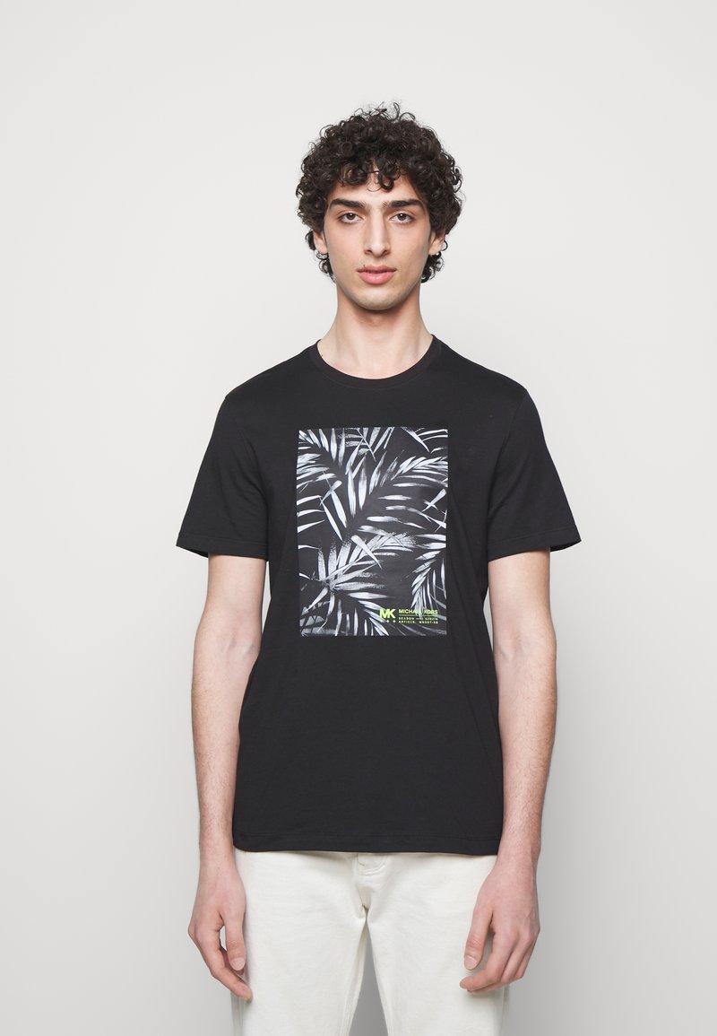 Michael Kors - PALM BLOCK TEE - Print T-shirt - black