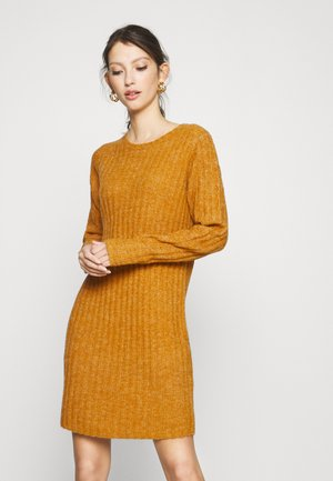 VINIKKI O-NECK DRESS - Jumper dress - pumpkin spice/melange