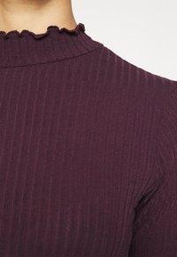 New Look - TURTLE NECK BODY - Long sleeved top - dark burgundy - 6