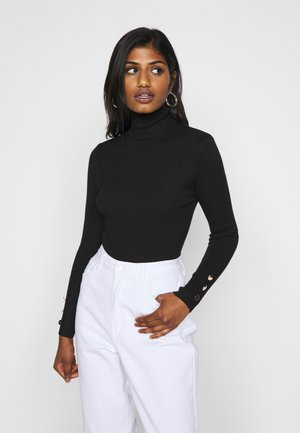 ROLL NECK BODY - Strickpullover - black