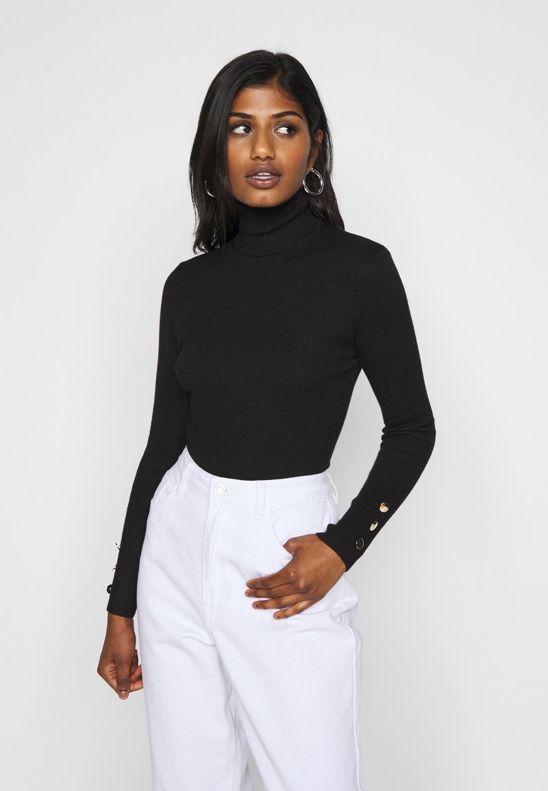Missguided Petite - ROLL NECK BODY - Jumper - black