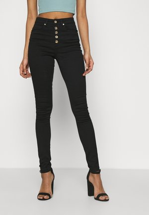 ONLROYAL FLY GUA - Jeansy Skinny Fit - black