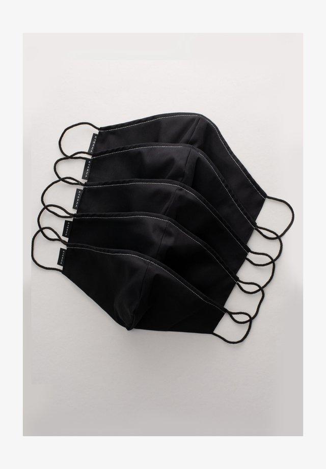 5 PACK - Masque en tissu - schwarz