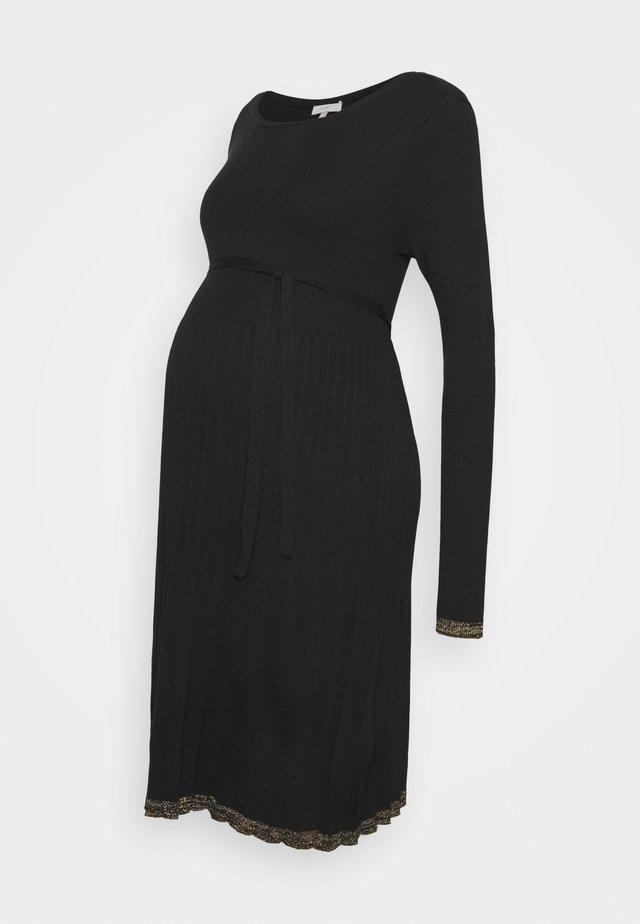 DRESS - Vestido de punto - gunmetal
