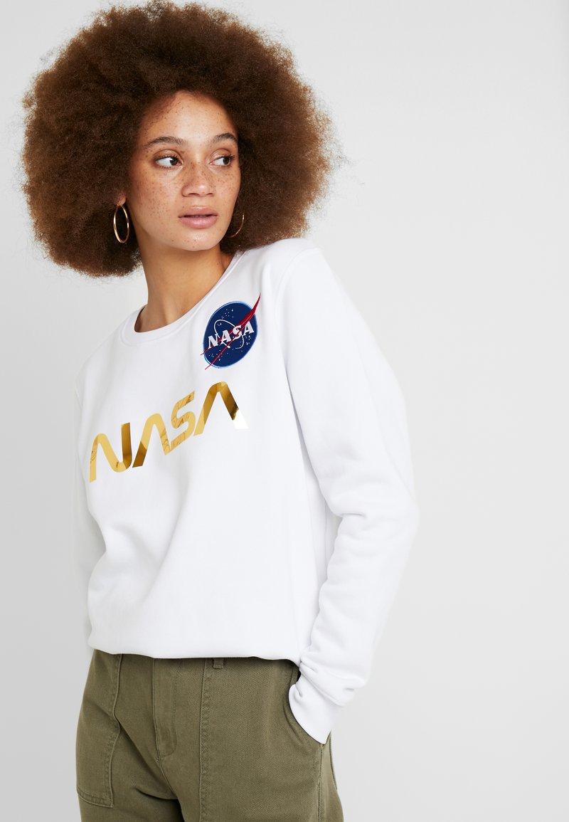 Alpha Industries - NASA - Sweater - white/gold