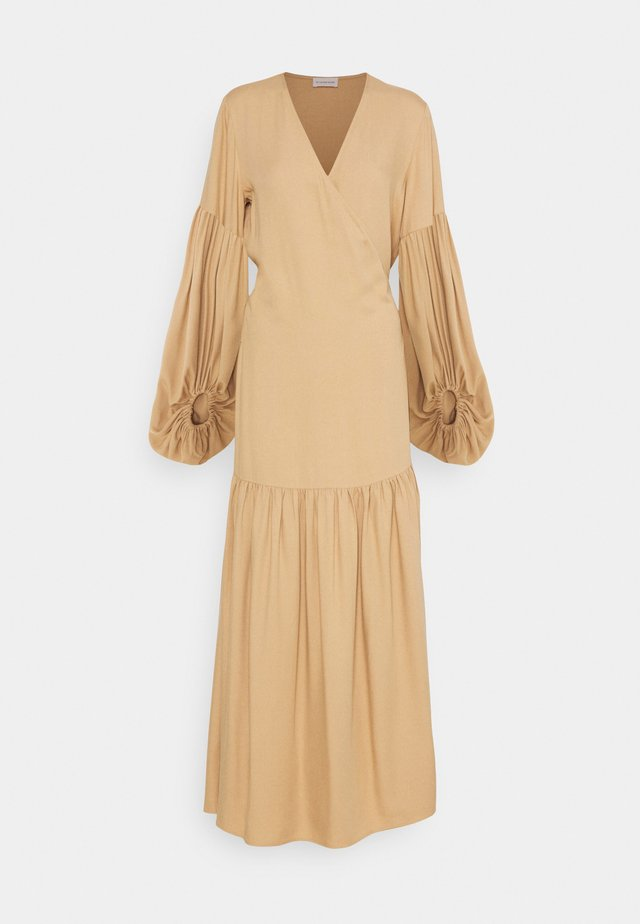 FRILLA - Maxi dress - tan